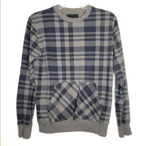 21 Men An American Brand Crewneck Sweater Checked
